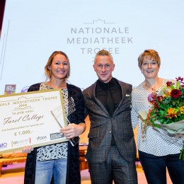 Winnaar Nationale Mediatheek Trofee 2018 Farel College Amersfoort