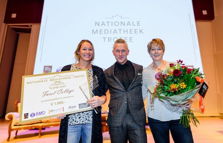 Winnaar Nationale Mediatheek Trofee 2018 Farel College Amersfoort