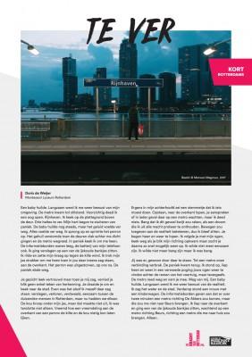Kort Rotterdams - Doris de Weijer met 'Te ver'