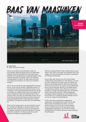 Kort Rotterdams - Ismar Custic met 'Baas van Maashaven'