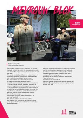 Kort Rotterdams - Mutintha Kangombe met 'Mevrouw Blok'