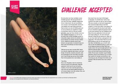 Kort Rotterdams Fijke Oei Challenge Accepted (Melanchton Schiebroek)