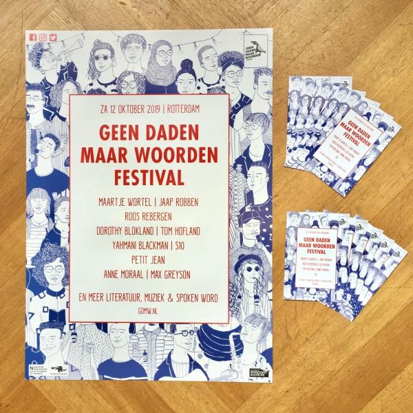 Promotiepakket Geen Daden Maar Woorden Festival